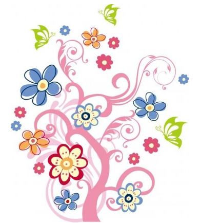 with Flowers vector