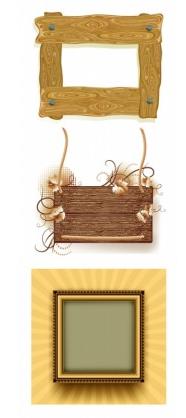 wood frame border clip art vector