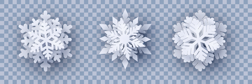 3D snowflake illustration vector design