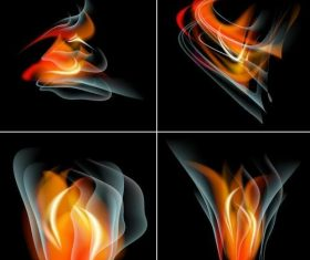4 kind abstract fire illustration vector