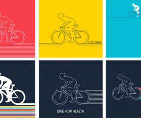 6 bicycle background vector