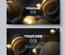 Abstract gift voucher template vector