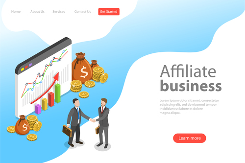 Affiliate business template vector