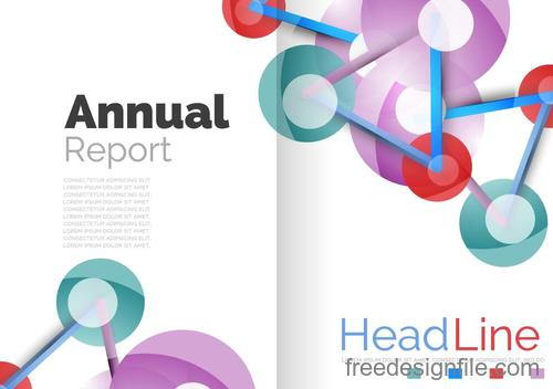 Annual report brochure cover template vector 02