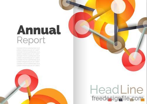 Annual report brochure cover template vector 03