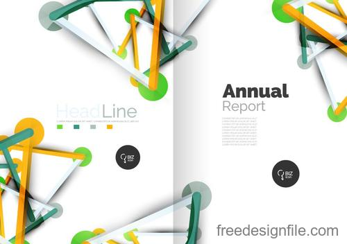Annual report brochure cover template vector 04