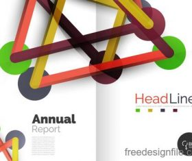 Annual report brochure cover template vector 06