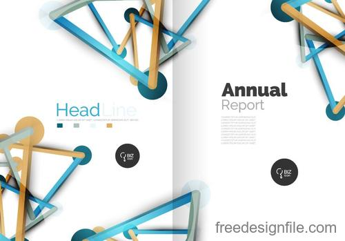 Annual report brochure cover template vector 07
