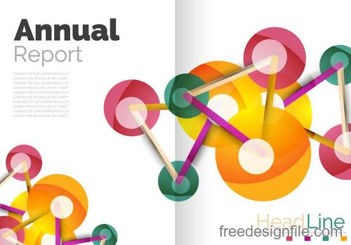 Annual report brochure cover template vector 08