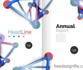 Annual report brochure cover template vector 09
