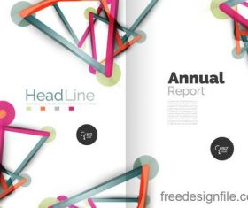 Annual report brochure cover template vector 11