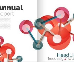 Annual report brochure cover template vector 13