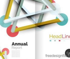Annual report brochure cover template vector 14