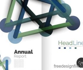 Annual report brochure cover template vector 15