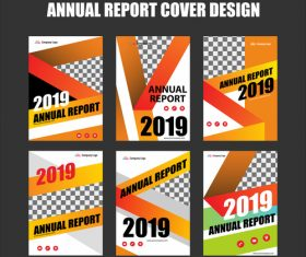 Annual report cover design vector 01