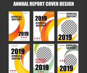 Annual report cover design vector 02