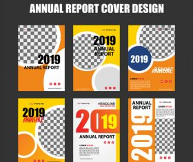 Annual report cover design vector 03