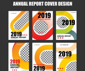 Annual report cover design vector 04