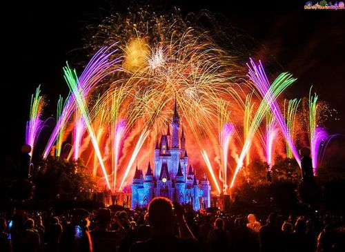 Around the World New Year Fireworks Stock Photo 01