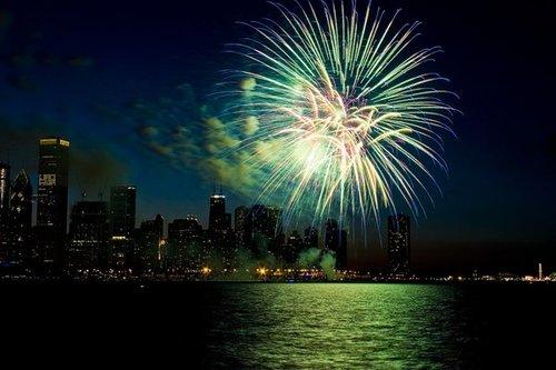 Around the World New Year Fireworks Stock Photo 02