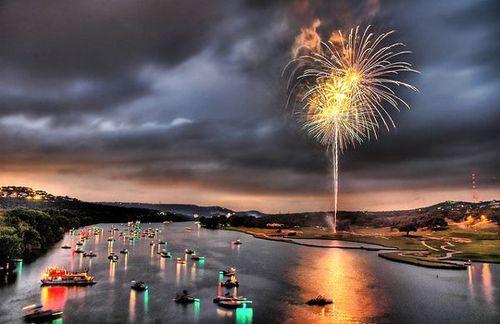 Around the World New Year Fireworks Stock Photo 06