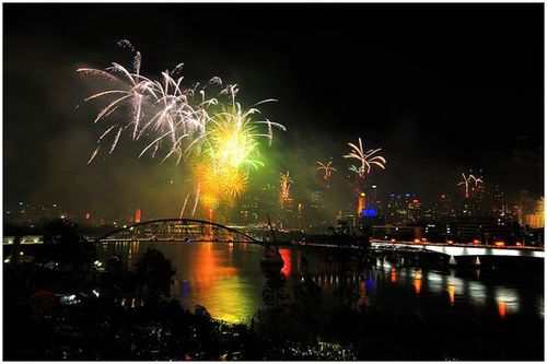 Around the World New Year Fireworks Stock Photo 07
