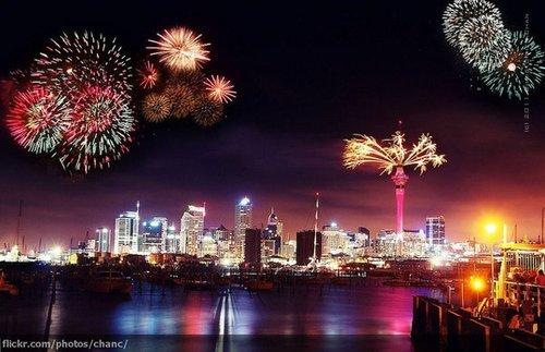 Around the World New Year Fireworks Stock Photo 10