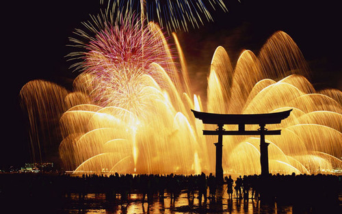 Around the World New Year Fireworks Stock Photo 11