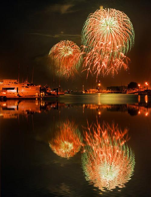 Around the World New Year Fireworks Stock Photo 13