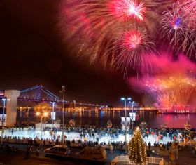 Around the World New Year Fireworks Stock Photo 14