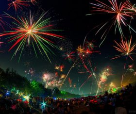 Around the World New Year Fireworks Stock Photo 17