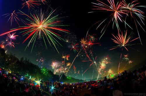 Around the World New Year Fireworks Stock Photo 17