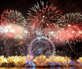 Around the World New Year Fireworks Stock Photo 19