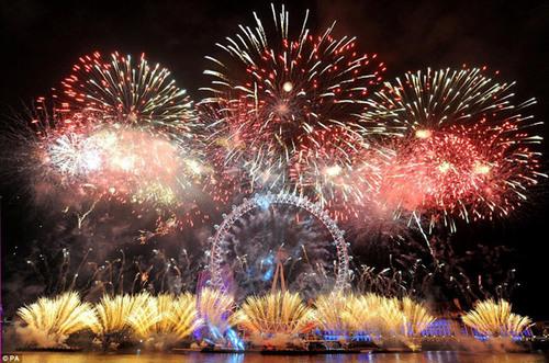 Around the World New Year Fireworks Stock Photo 19