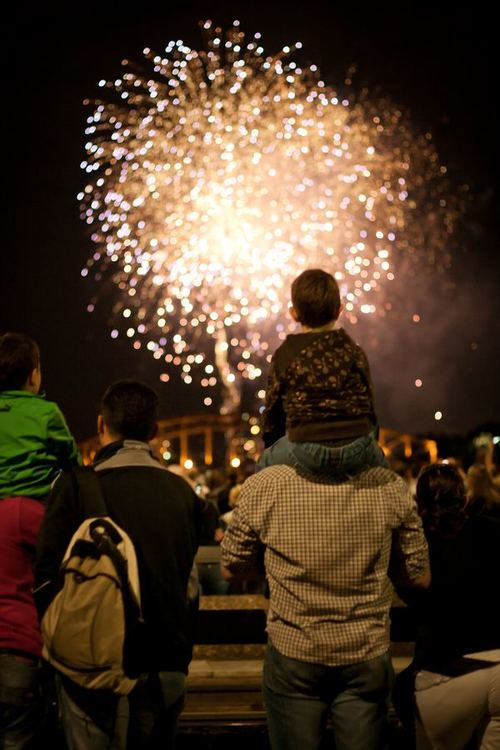 Around the World New Year Fireworks Stock Photo 20