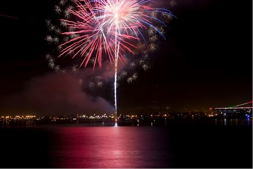 Around the World New Year Fireworks Stock Photo 21