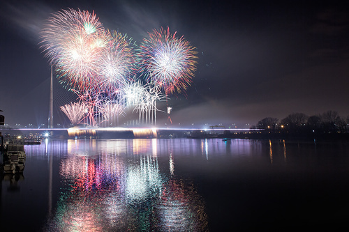 Around the World New Year Fireworks Stock Photo 22