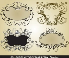 Bank vintage frame vectors