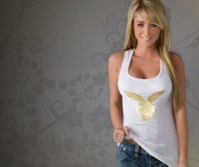 Beautiful girl with good shape Stock Photo