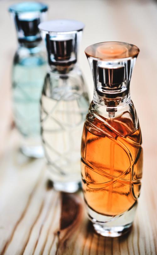 Beautifully designed perfume bottle Stock Photo 03