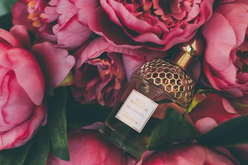 Beautifully designed perfume bottle Stock Photo 06