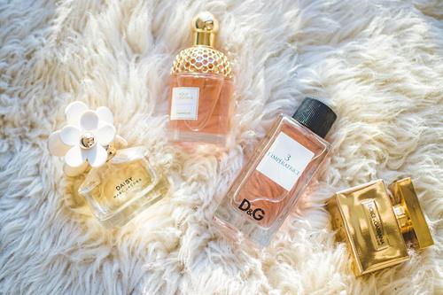 Beautifully designed perfume bottle Stock Photo 07