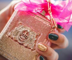 Beautifully designed perfume bottle Stock Photo 08