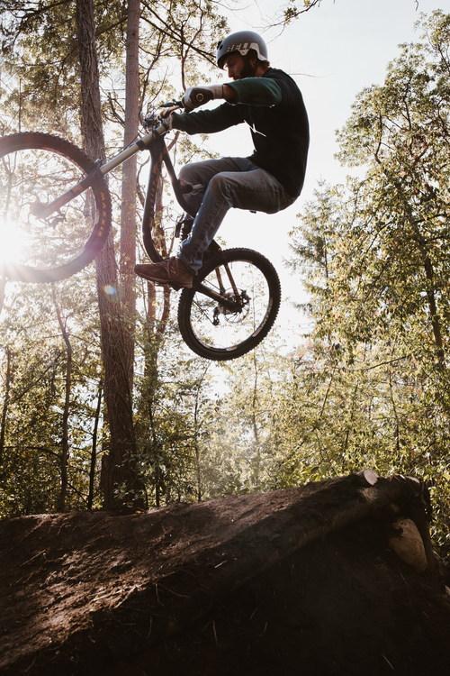 Bicycle athletics Stock Photo