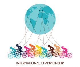 Bicycle international match design vector