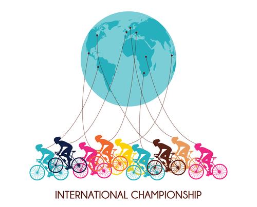 Bicycle international match design vector