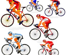 Bicycle racing illustration vectors 02