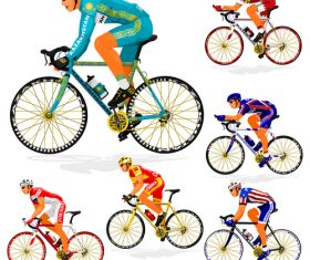 Bicycle racing illustration vectors 05