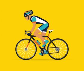 Bicycle sport illustration vector 02