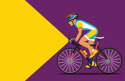 Bicycle sport illustration vector 03